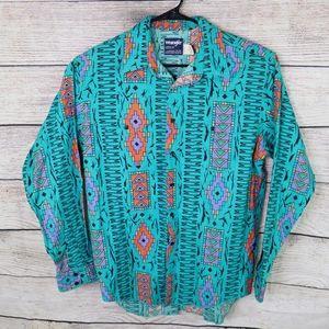 Vintage Wrangler Cowboy Button Up Shirt Large